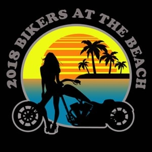 Logotipo de la motocicleta - 2018 Bikers at the Beach